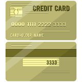 Credit Card two sides Stock Image