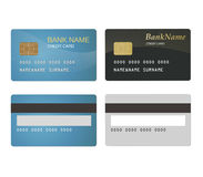 Credit Card two types. Credit cards: Blue & Black. Financial objects Royalty Free Stock Photography
