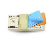 Credit card with us dollars Stock Photos