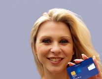 Credit Card User. A Girls Best Friend Royalty Free Stock Images