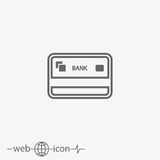 Credit card vector icon Royalty Free Stock Images