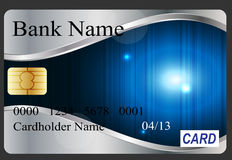 Credit card vector illustration Stock Photos
