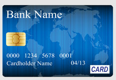 Credit card vector illustration Stock Images