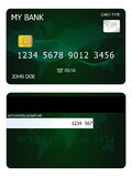 Credit card. Vector illustration of green credit card Vector Illustration