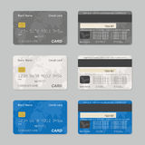 Credit card. Vector illustration of credit card isolated on grey background stock illustration