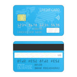 Credit card vector. royalty free illustration