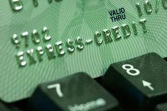Credit card verification Stock Images