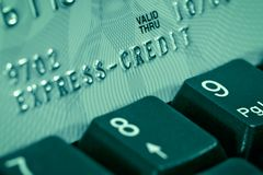 Credit card verification Royalty Free Stock Images
