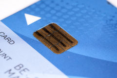 Credit card. Very sharp macro picture Royalty Free Stock Photo