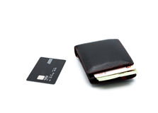 Credit card and wallet Stock Images