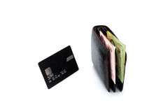 Credit card and wallet Stock Photography