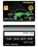 Credit Card on Wave Lines and  Royalty Free Stock Images