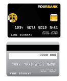 Credit Card on Wave Lines Back Royalty Free Stock Image