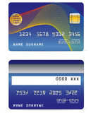 Credit Card on Wave Lines Background Royalty Free Stock Photo