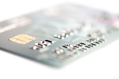 Credit card on a white background Stock Photography