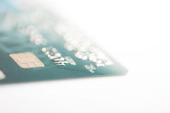 Credit card on a white background Royalty Free Stock Image
