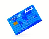 Credit card on white background. Isolated 3D illustration Royalty Free Stock Photos