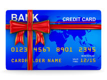 Credit card on white Stock Image