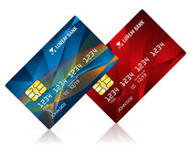 Credit card  on white vector illustration Royalty Free Stock Images