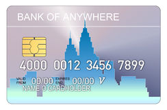 Free Credit Card With Buildings Royalty Free Stock Photos - 3164728