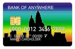 Free Credit Card With Buildings Stock Image - 3164741