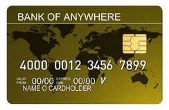 Credit Card With World Map Royalty Free Stock Images