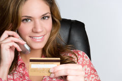 Credit Card Woman royalty free stock photos