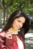 Credit card woman Stock Image