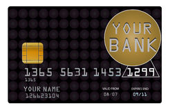 Credit card for your bank stock illustration