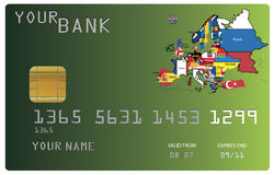 Credit card for your bank royalty free illustration