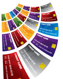 Credit cards. Illustration of different colored credit cards Stock Photography