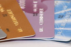 Credit cards. Close-up of credit cards Royalty Free Stock Photography