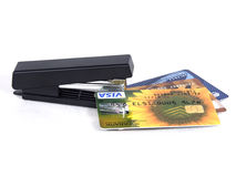 Credit cards. On a white background Stock Images