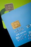 Credit Cards. A pile of credit cards with all personal information and logos altered or removed Royalty Free Stock Photo
