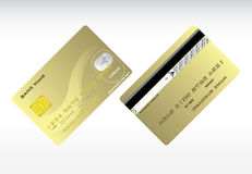 Credit cards. Plastic credit cards front and back Royalty Free Stock Photos