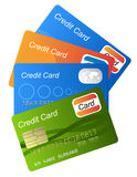 Credit cards. Set of credit cards on white background Royalty Free Stock Photo