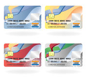 Credit cards. Vector illustration of credit cards Stock Photography