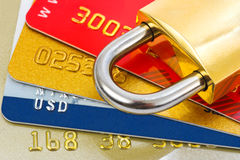 Free Credit Cards And Lock Royalty Free Stock Image - 7732666
