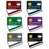 Credit cards art Royalty Free Stock Photos
