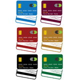 Credit cards art Stock Images