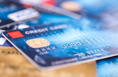 Credit cards. A background of credit cards Stock Photo