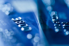 Credit cards. Business finance photo Royalty Free Stock Images