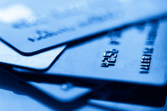 Credit cards. Business finance photo Stock Image