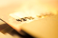 Credit cards. Business finance photo Royalty Free Stock Photography