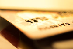 Credit cards. Business finance photo Royalty Free Stock Image