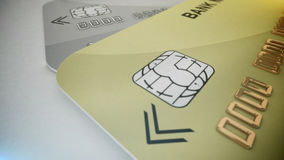 Credit cards with chips Royalty Free Stock Photography