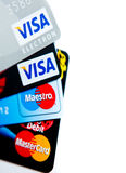 Credit cards choice Royalty Free Stock Photography