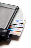 Credit cards choice Stock Images