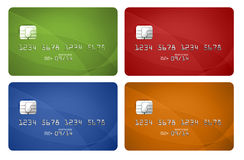 Credit cards collection Royalty Free Stock Photo