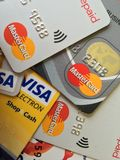 Visa Credit Cards Royalty Free Stock Photos
